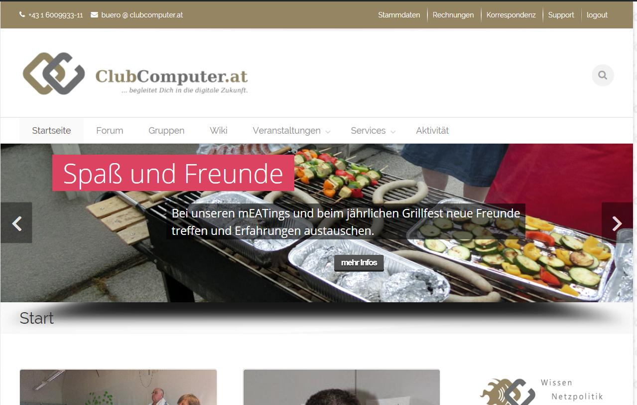 Neuer ClubComputer Webauftritt