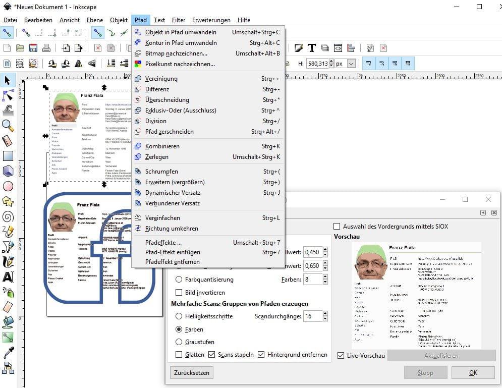 Bildüberlagerung mit Inkscape
