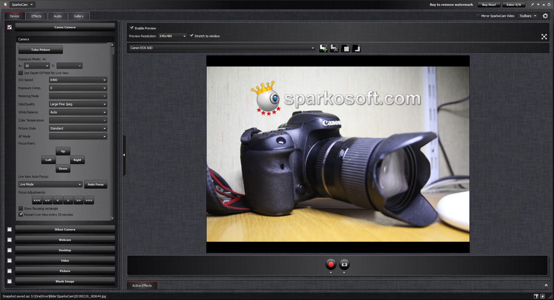 DSLR als Webcam