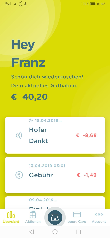 boon. – kontaktlos bezahlen mit Google Pay