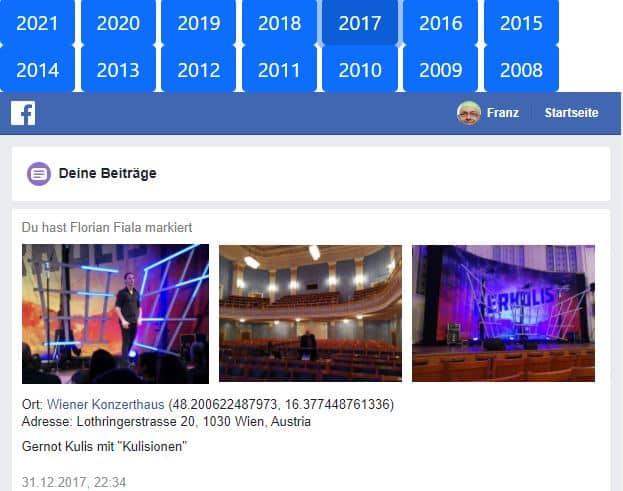 Facebook-Archiv publizieren