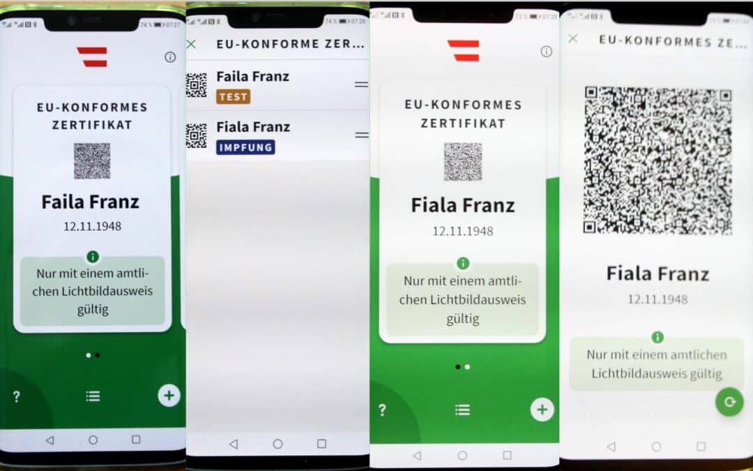 Grüner Pass für Android